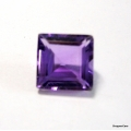 Nice Faceted Square Cut Amethyst Natural Gem Stone